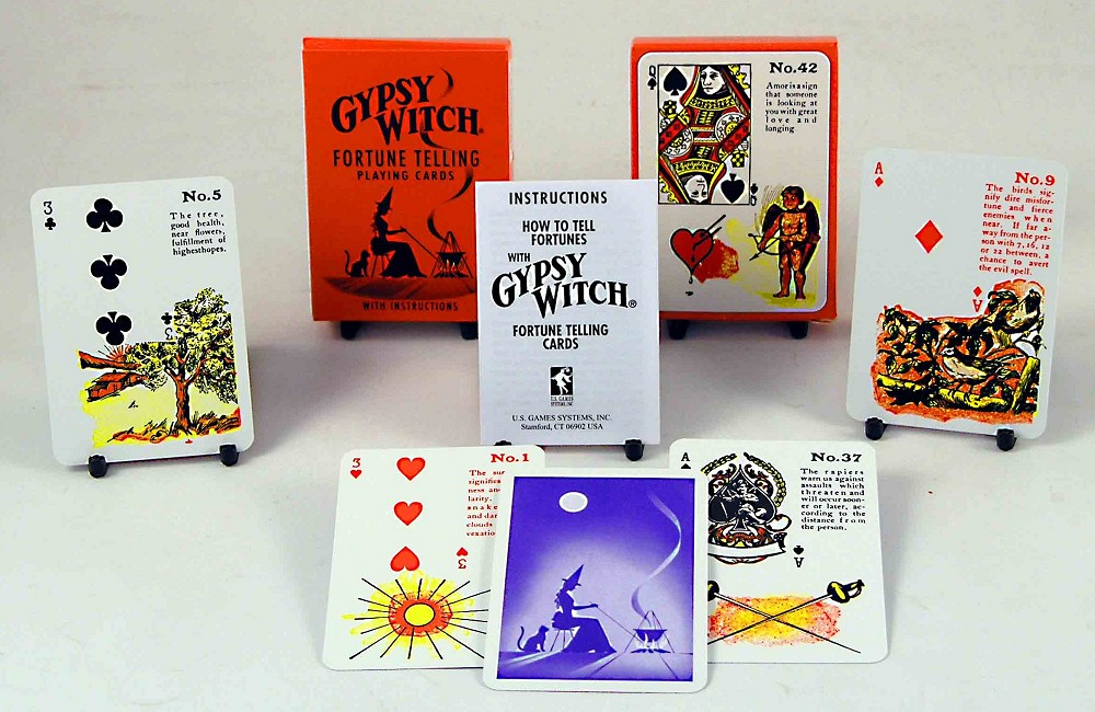 GYPSY WITCH FORTUNE TELLING PLAYING CARDS NETT